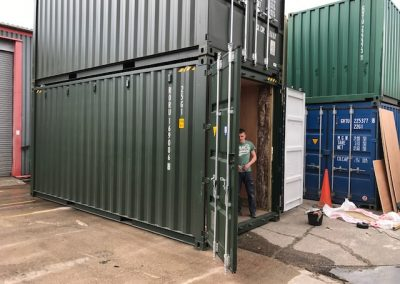 Steel shipping container to scotland