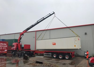 40ft Shipping Container going to site in Kendal