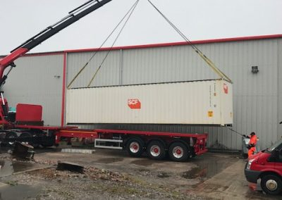 40ft Steel Shipping Container going to site in Kendal