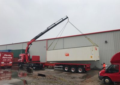 New 40ft Container going to site in Kendal