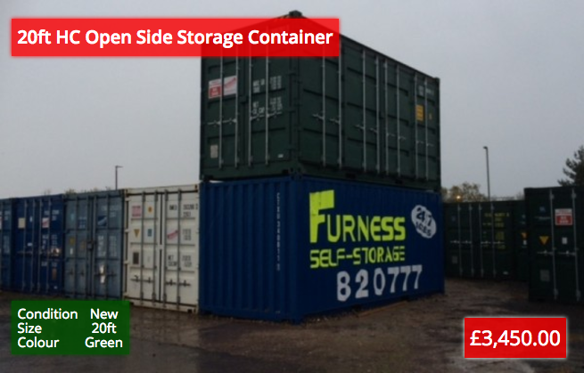 20ft HC Open Side Storage Containers