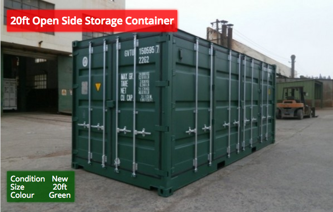 20ft Open SideStorage Containers