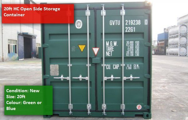 20ft HC Open side Container