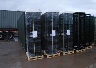 Battery racks with packaging - UK EPC