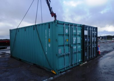 First storage cabins in place - UK EPC