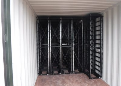 Racks stored individually in containers - UK EPC
